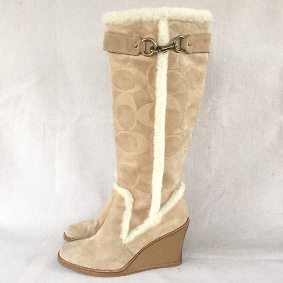Coach Jonie Suede Tall Boots
